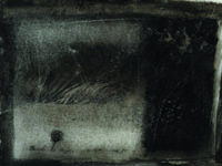 series 'In the black-black city ...', paper, monotype, 50x40 cm, 2010