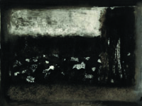 series 'In the black-black city ...', paper, monotype, 50x40 cm