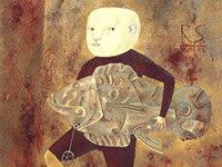 Boy with the Mechanical Fish, oil on canvas, 70х60 cm