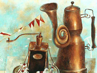 Dream of Kettle and Coffee Grinder, oil on canvas, 60х70 cm