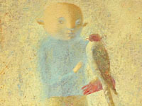 Boy with Falcon, oil on canvas, 70х60 cm