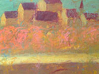 Love Prague. Pink, acrylic on canvas, 150x50 cm